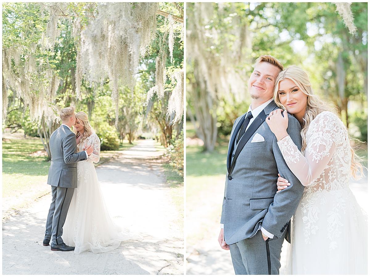 Charleston SC wedding portraits in park