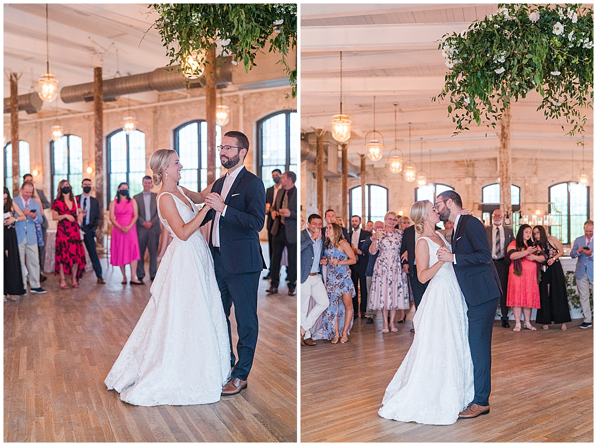 bride and groom have first dance at Cedar Room