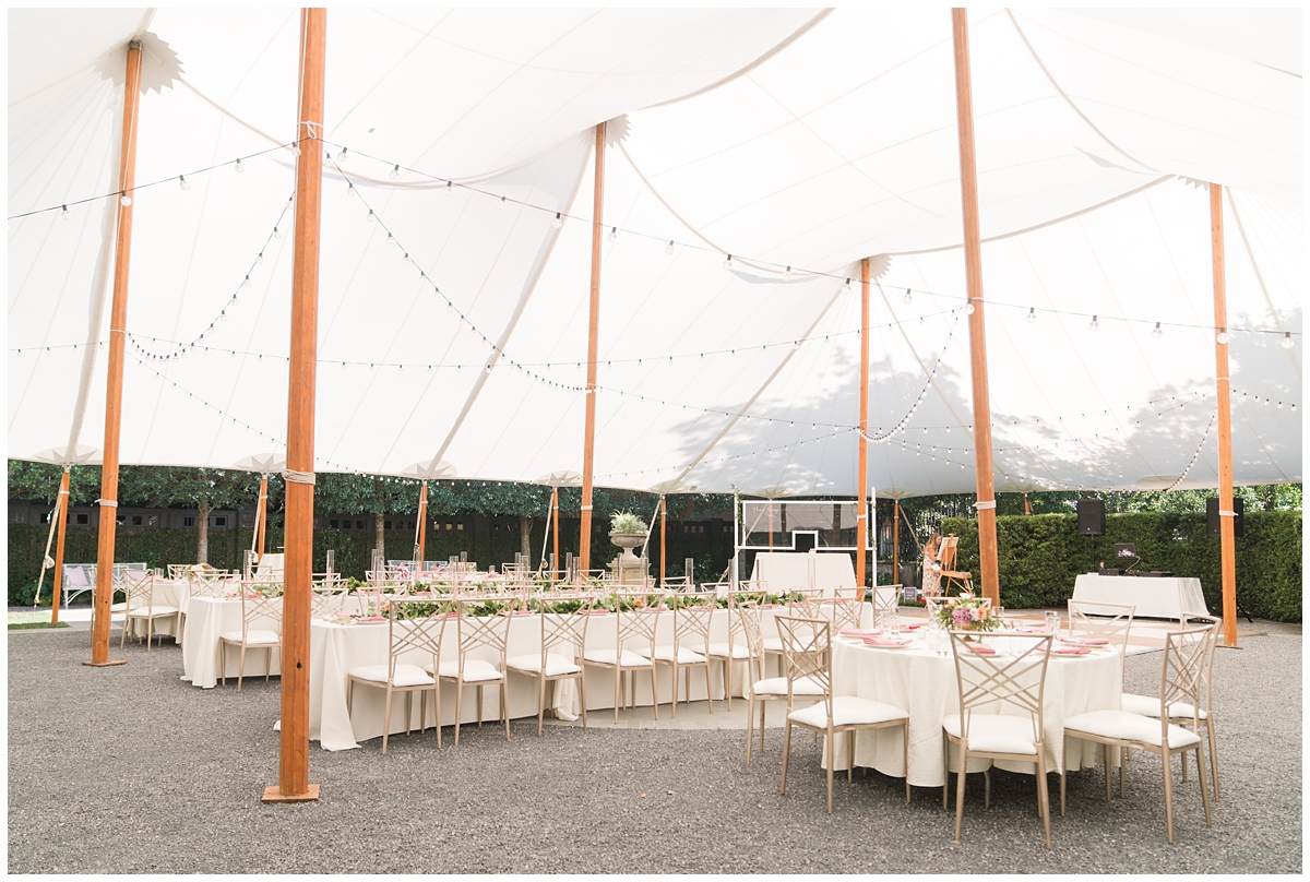 tented wedding reception at Gibbes Museum