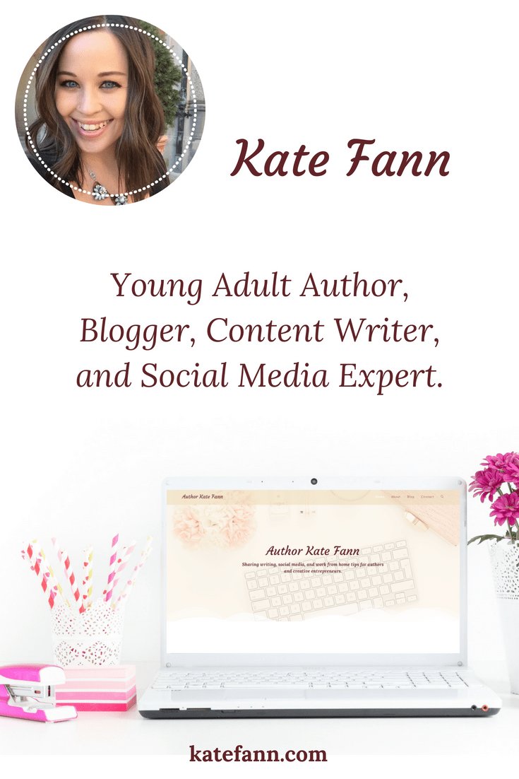 Welcome! My name is Kate Fann. I'm a Young Adult Author, Blogger, Content Writer, and Social Media Expert.
