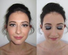 Silver and warm brown smokey eyes for a ball