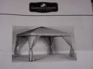 Buyer Beware - Pacific Casual Gazebo from Kmart/Sears is a cheap piece of garbage.