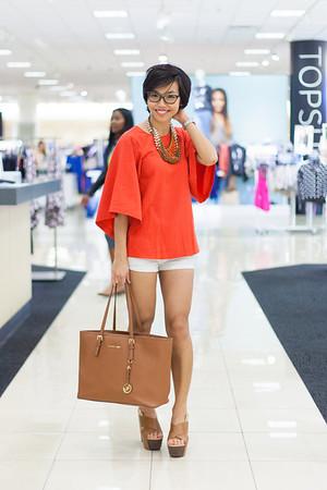 Kate Style Petite l Modern Red Kimono