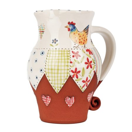 A photo of a handmade Large Patchwork Chicken Jug