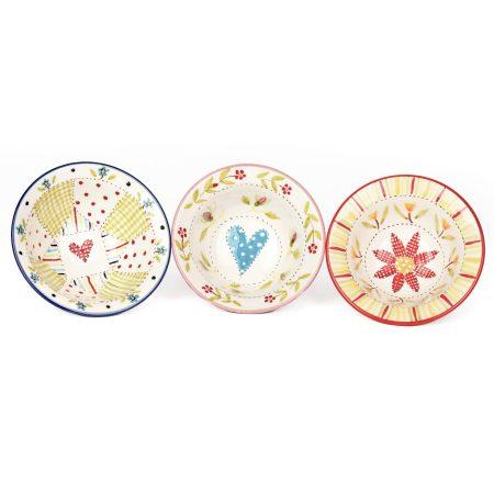 A photo of three handmade ceramic Small Bowls