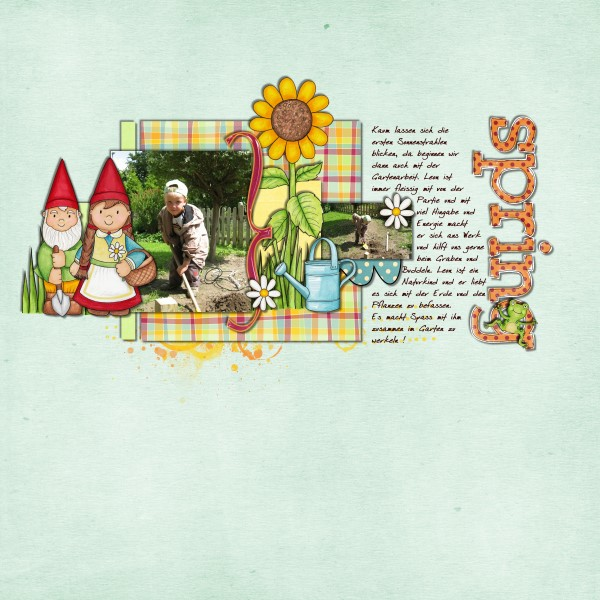 Spring scrapbook layout ideas | digital scrapbooking page by Tami