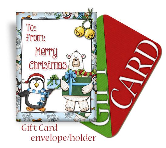 make your own gift card envelope    holder