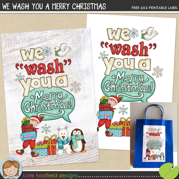 We Wash You A Merry Christmas labels