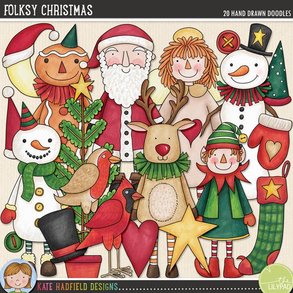 Folksy Christmas by Kate Hadfield