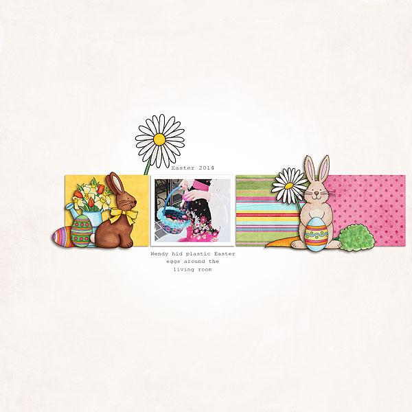 Easter scrapbook layout ideas | digital scrapbooking page by Melanie