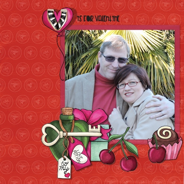 Kate Hadfield Designs creative team My Favourite Valentines layout by Olga