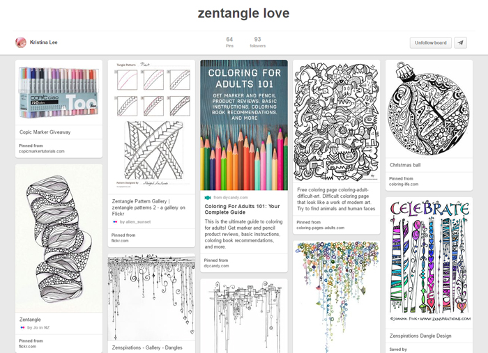 Kristina Lees Zentangle Board