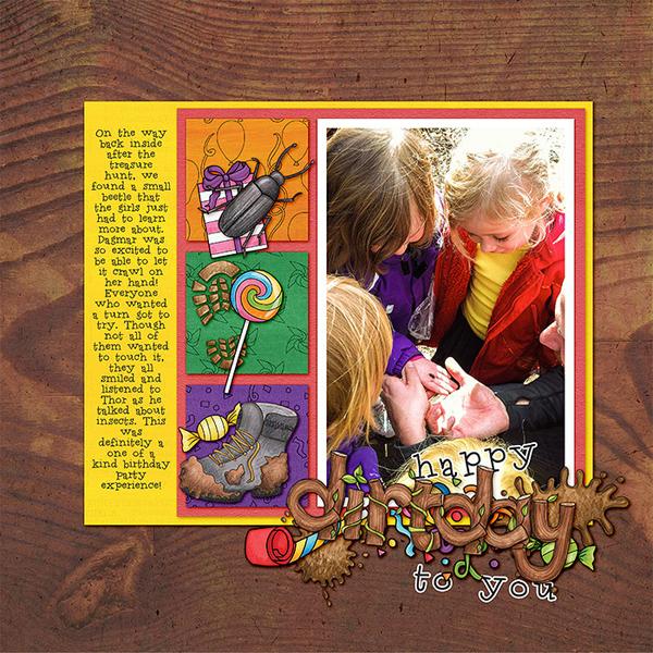 "Kate Hadfield Designs Creative Team ""Scrap Like Berniek"" FREE template | Digital scrapbook layout by Lorry"
