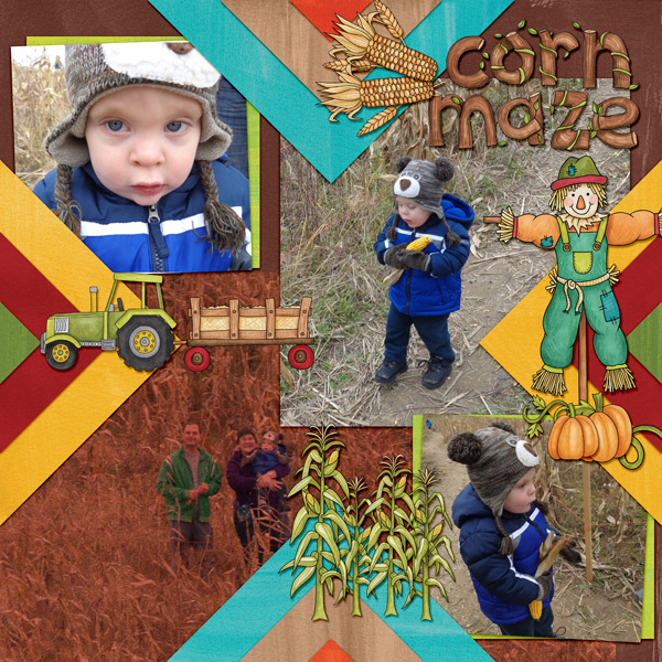 """Kate Hadfield Designs Creative Team """"Autumn & Fall"""" Favourites: Digital scrapbook layout by Amy"""