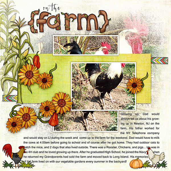 "Kate Hadfield Designs Creative Team ""Autumn & Fall"" Favourites: Digital scrapbook layout by Christa"