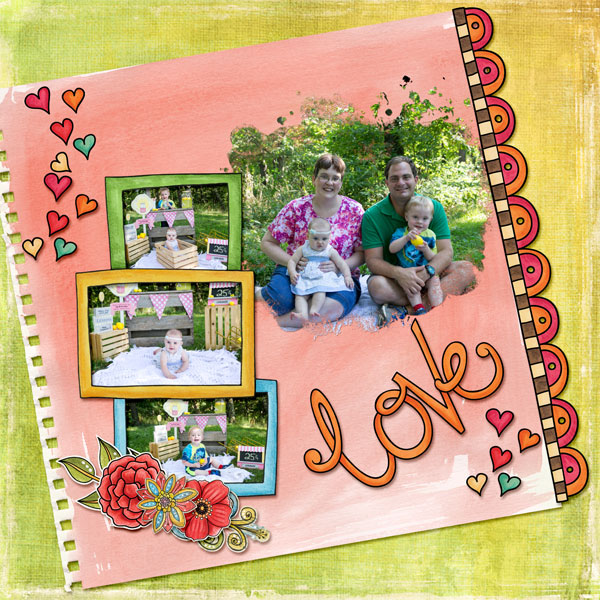 "Kate Hadfield Designs Creative Team ""Scrap Like Amy"" FREE digital scrapbooking template! 
