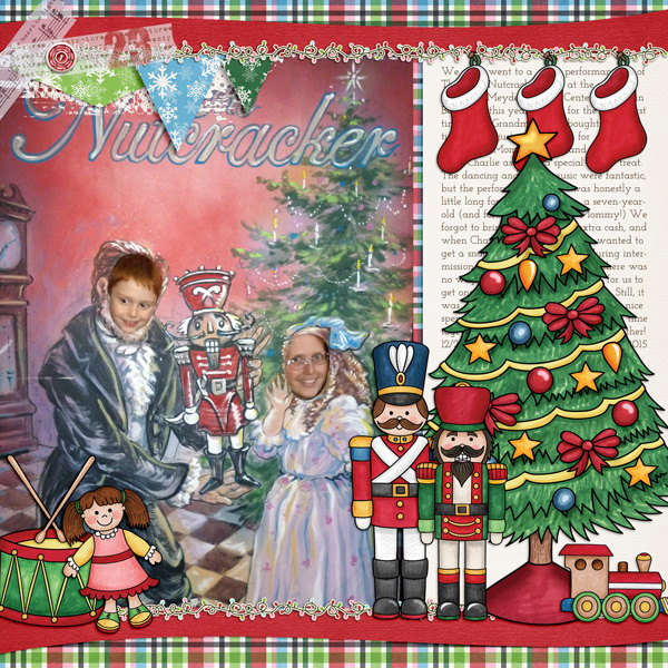 Kate Hadfield Designs Creative Team Favourites: Digital scrapbook layout by Molly