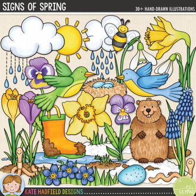 Signs of Spring DIGITAL SCRAPBOOKING kit from Kate Hadfield Designs