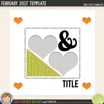 Free Digital Scrapbooking template | February challenge