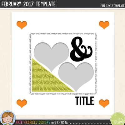FREE Digital Scrapbooking Template from Kate Hadfield Designs