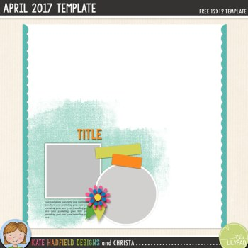 Free digital scrapbooking template | April Challenge