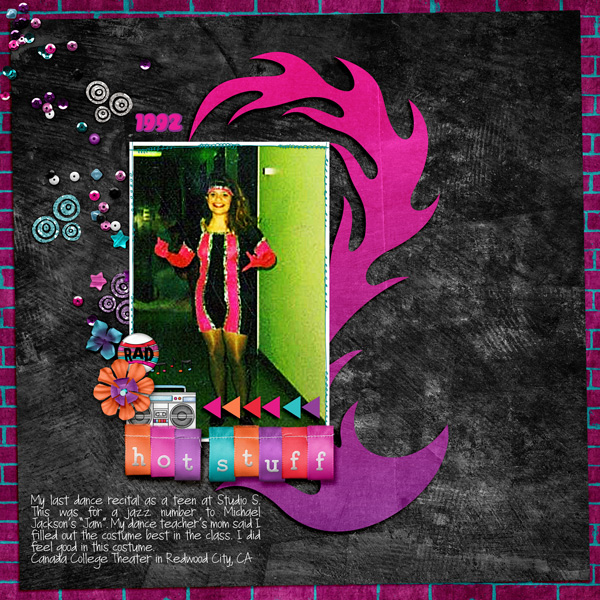 Teen girl scrapbook page created with 'Audaciously Awesome' digital scrapbooking kit by Kim Jensen and Kate Hadfield – fun ideas for scrapbook pages! Layout by Creative Team member Jess