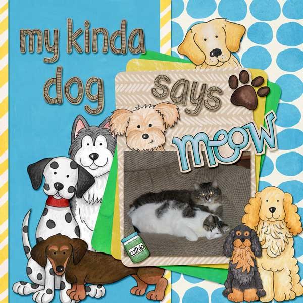 dog scrapbook layout by amy