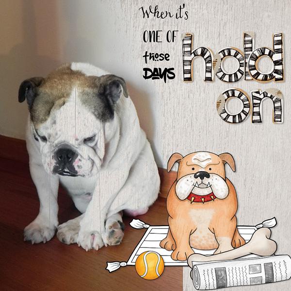 dog scrapbook layout by olga