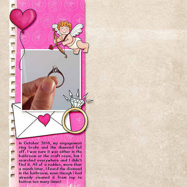 Valentine's digital scrapbook page by cindy