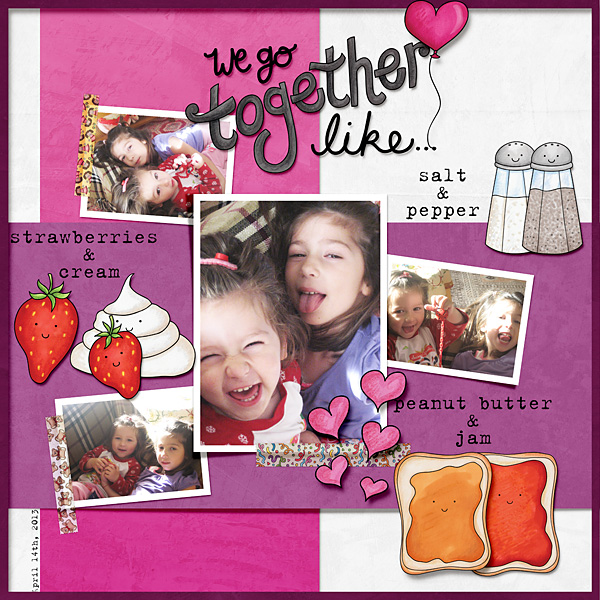 Valentine's digital scrapbook page by Cindy