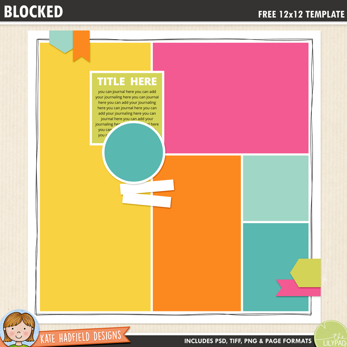 Head on over to our shop to check out the digital journaling templates. Free Digital Scrapbooking Templates Kate Hadfield Designs