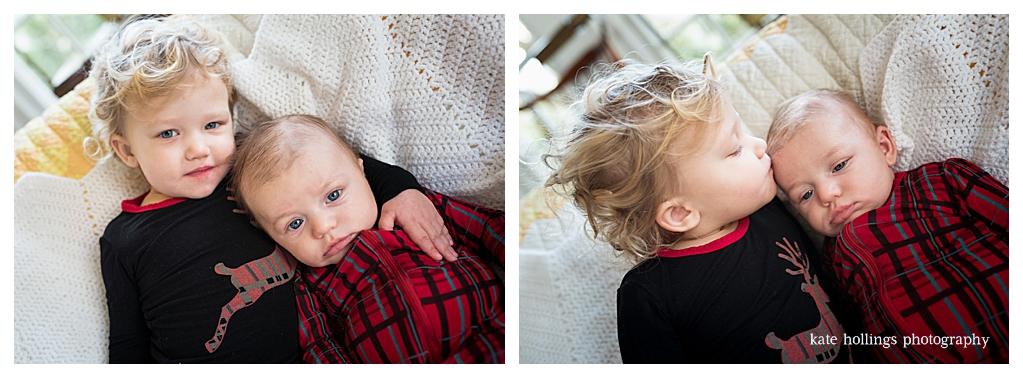 Siblings take a portrait photo