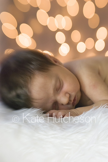 baby asleep on a fuzzy blanket- Nashville photography