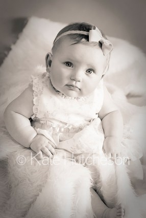 black and white baby picture
