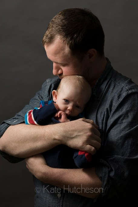 strong daddy with baby