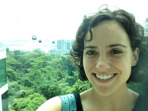 "me, in the ""scenic restroom"" on Mt. Faber"