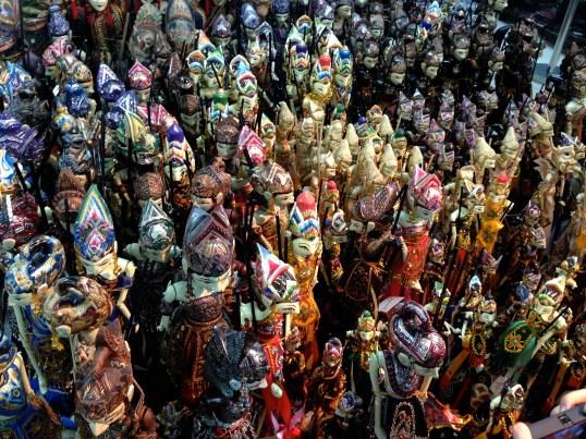 puppets on Malioboro Street