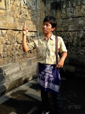 Nur, our Borobudur tour guide