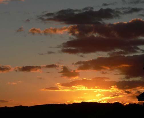 Sunset Behind Punchbowl