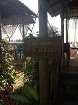 Entrance to our Rice Field Hut! :)