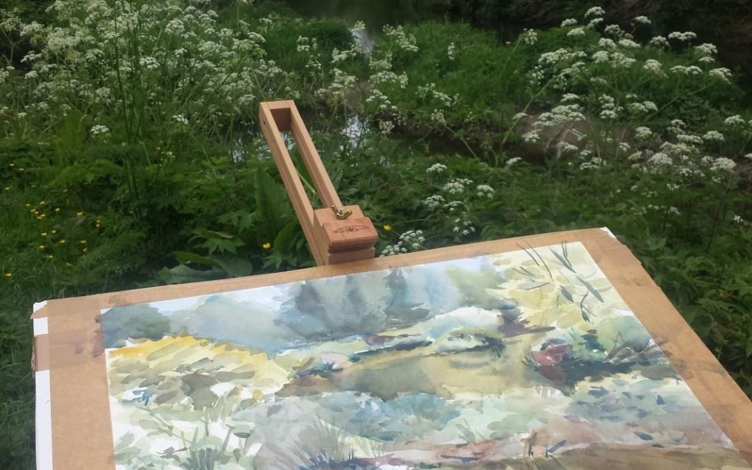Plein-air painting in Courtown