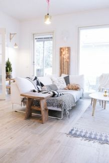Salon ambiance cocooning/scandinave