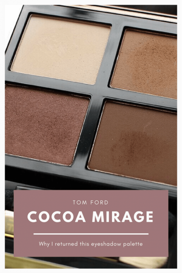 DISAPPOINTING PRODUCT: TOM FORD EYESHADOW QUAD