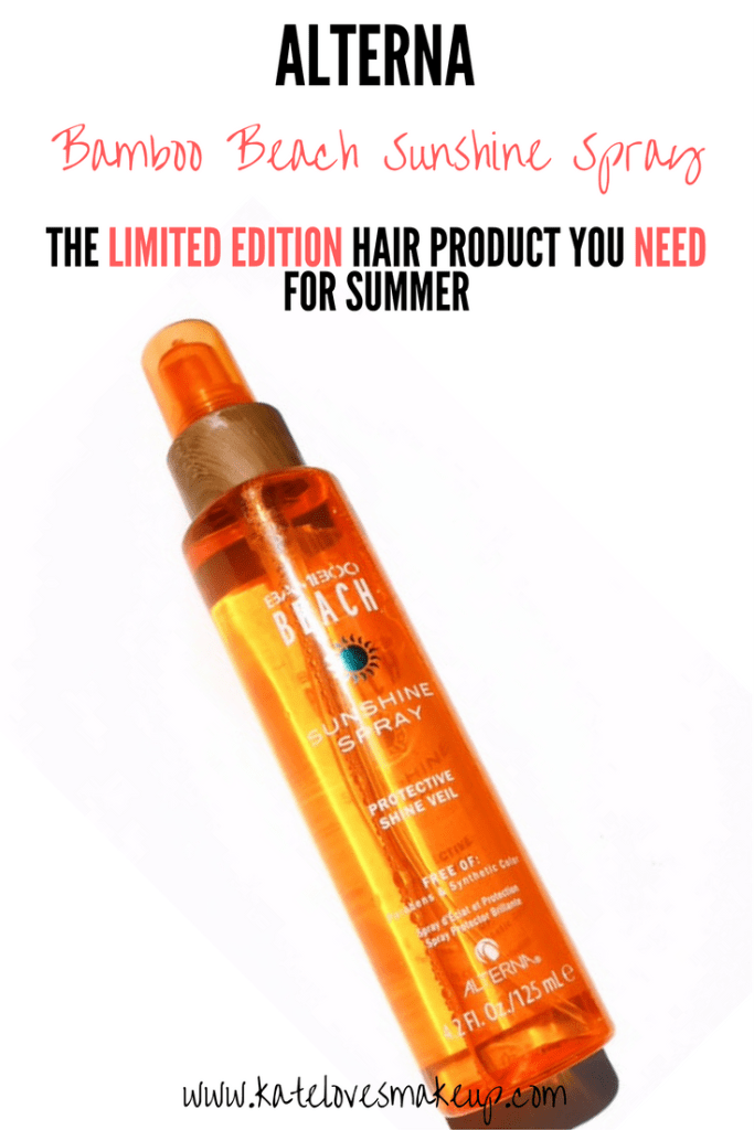 ALTERNA BAMBOO BEACH SUNSHINE SPRAY | Kate Loves Makeup