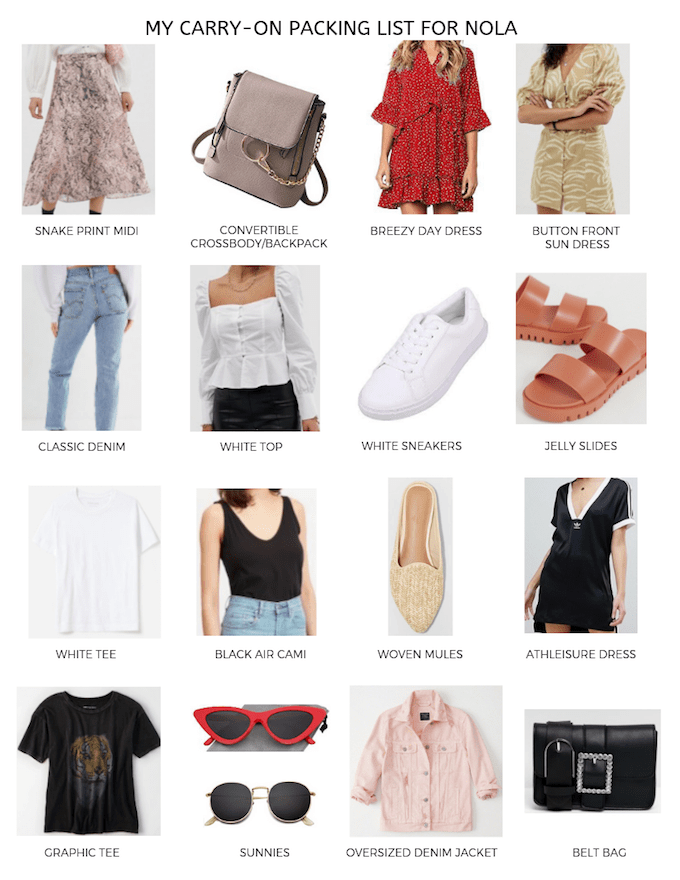 nola packing guide  carry on