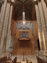 The organ in a side-aisle at the cathedral