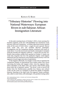 Katelyn Knox Tributary Histories Flowing into National Waterways