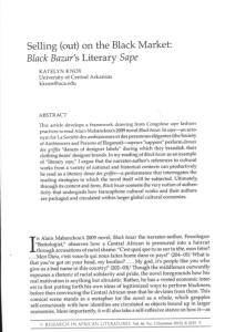 Katelyn Knox Selling out on the Black Market Black Bazar's Literary Sape Alain Mabanckou Black Bazaar