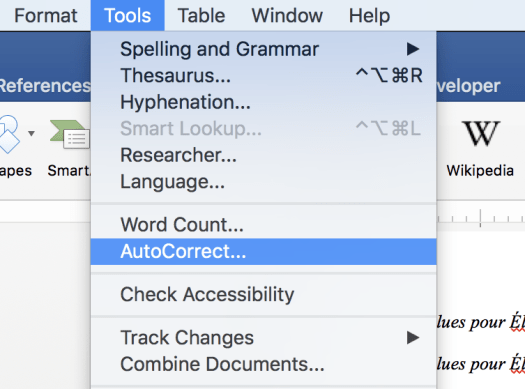 Word Autocorrect in Menu Tech Tools for Long Academic Writing Projects