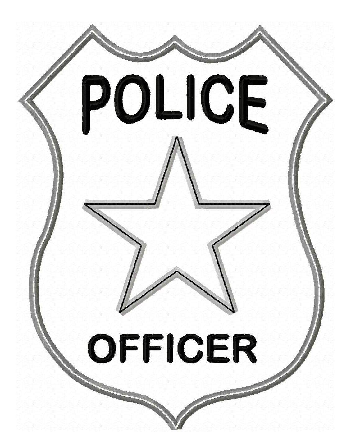 Police Officer Badge Applique